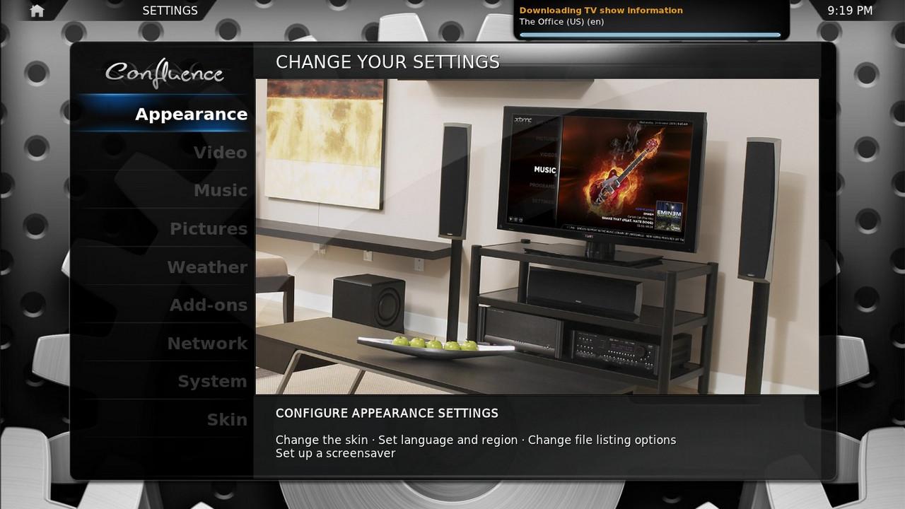 xbmc linux media center geexbox. Black Bedroom Furniture Sets. Home Design Ideas