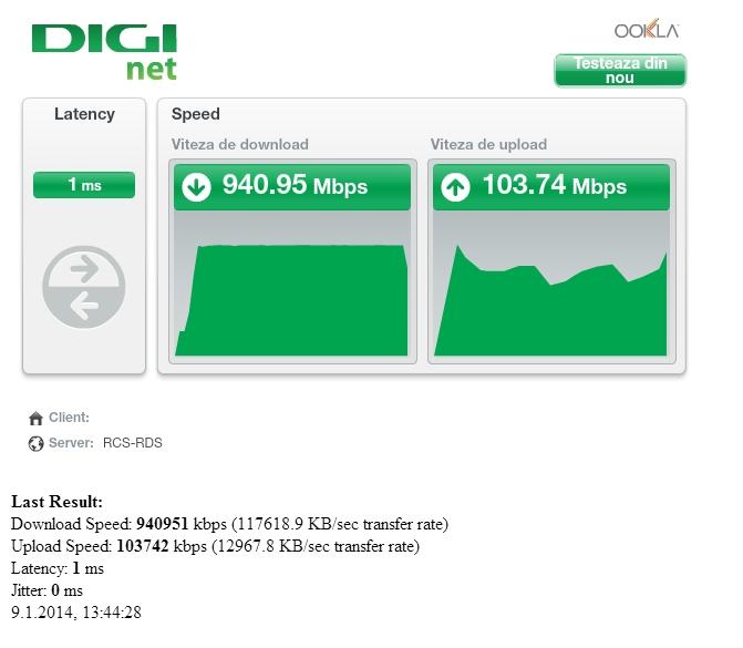 RCS & RDS lanseaza cel mai rapid internet din Romania la