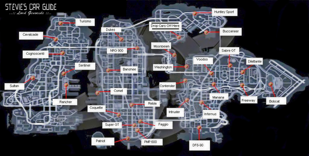gta iv car locations ps3 console