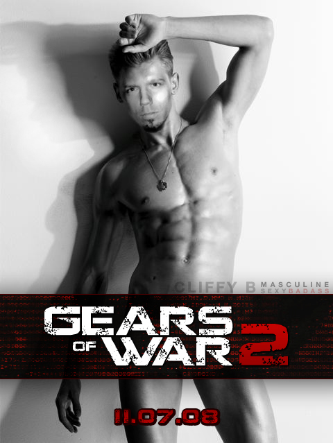 Gay gears of war, woman on top position handcuffs